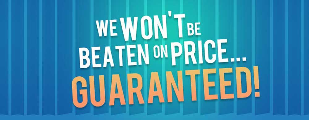 All prices guaranteed